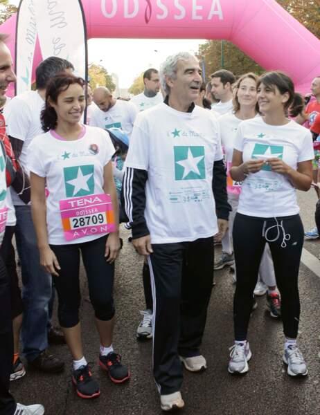 Aïda Touhiri, Raymond Domenech et Estelle Denis