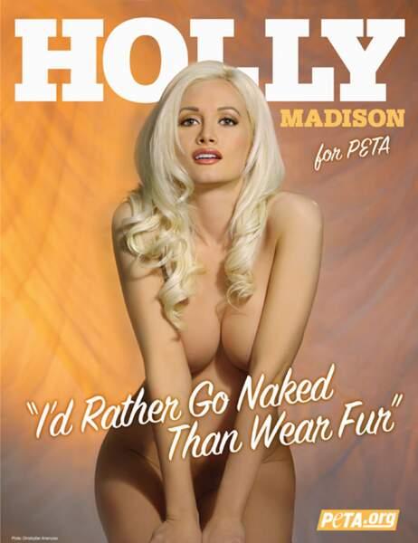 Holly Madison pour la Peta