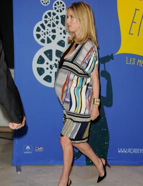 Léa Drucker très enceinte