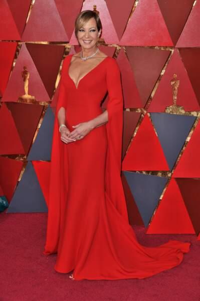 Allison Janney à la 90e cérémonie des Oscars, à Los Angeles le 4 mars 2018
