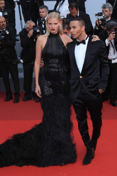 Lara Stone et Olivier Rousteing