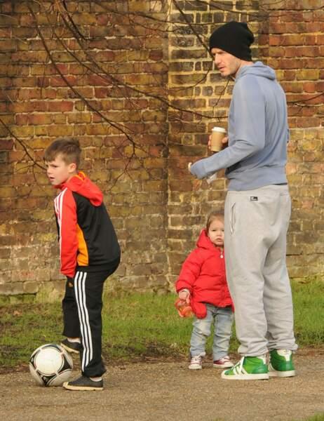 Cruz, David et Harper Beckham
