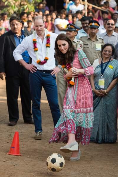Et là aussi, Kate Middleton n'a pas lâché la balle
