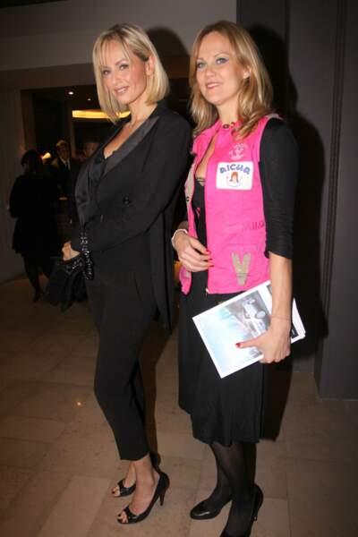 Adriana Karembeu et sa soeur Natalia