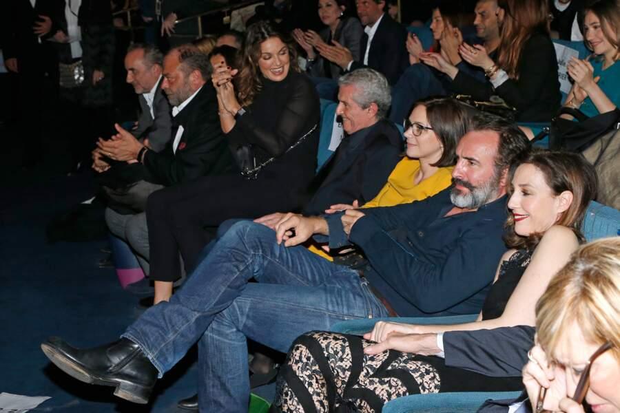 Avant-première du film Chacun sa vie : Claude Lelouch, Nathalie Péchalat, Jean Dujardin et Elsa Zylberstein