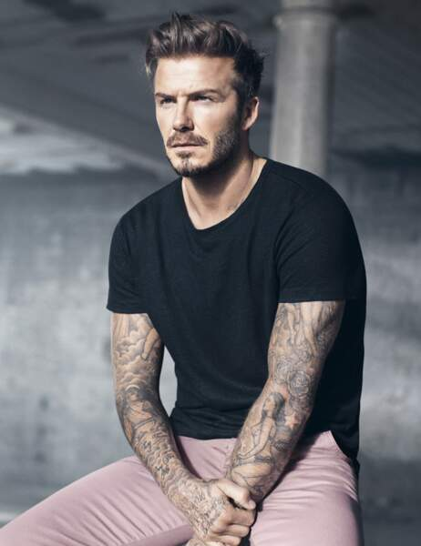 David Beckham, le rose lui va si bien