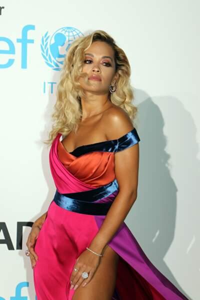 Rita Ora, au gala de l'UNICEF en Sardaigne, le 10 août 2018