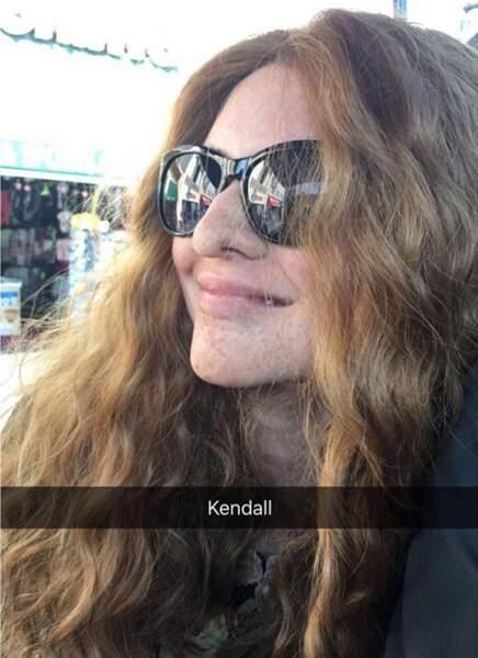 Kendall Jenner, méconnaissable en rousse
