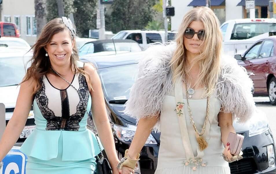 Fergie et sa soeur Dana
