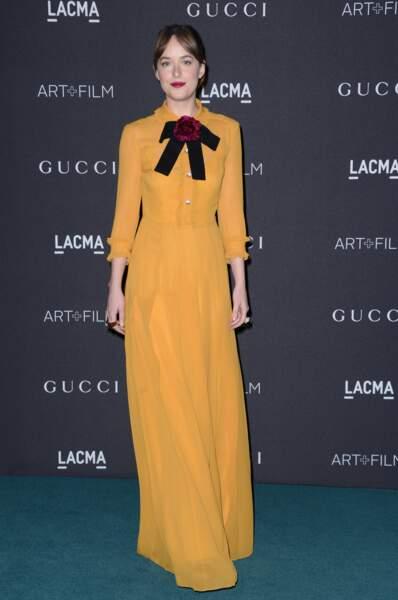 Dakota Johnson est tombée dans un pot de moutarde (signé Gucci)
