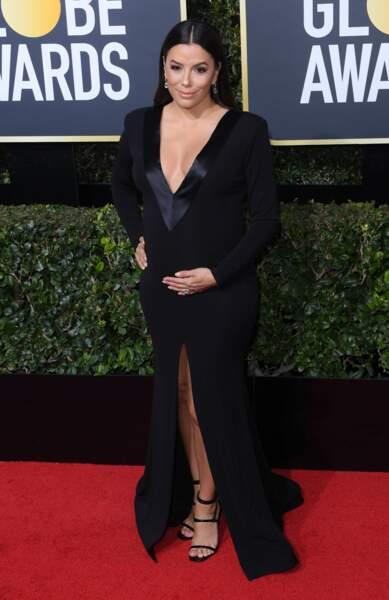 Eva Longoria lors de la 75e cérémonie des Golden Globes, le 7 janvier 2018