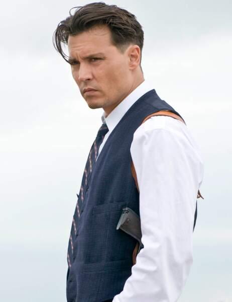 Johnny Depp en juillet 2009 sur le tournage de Public Ennemies
