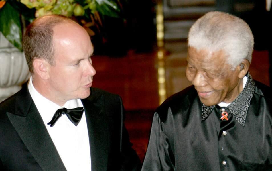 Nelson Mandela et le prince Albert