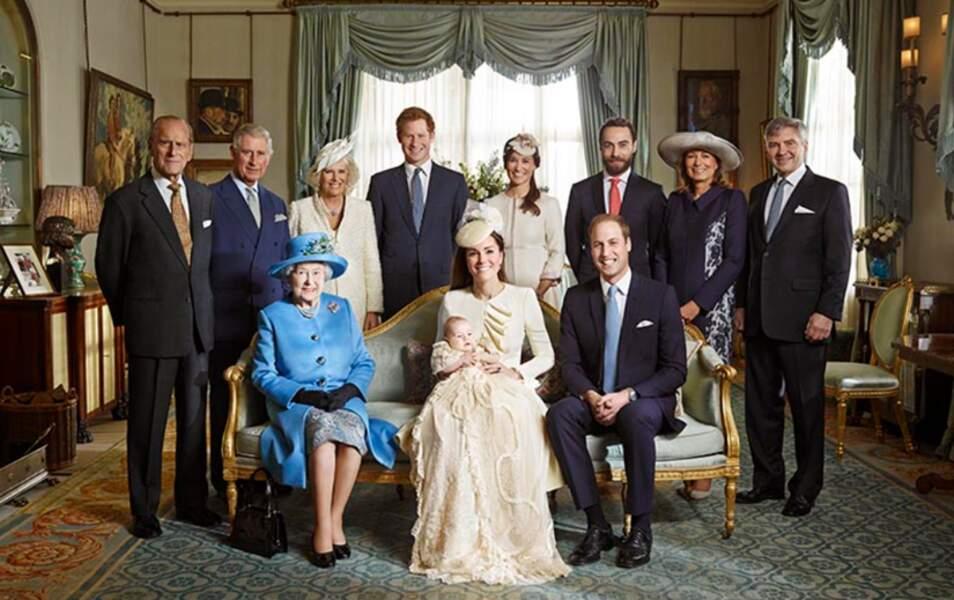 La famille royale et la famille Middleton rassemblés pour l'occasion