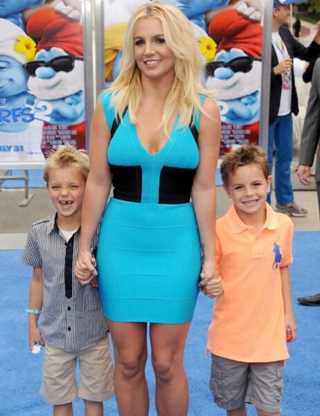 Britney Spears entourée de ses fils Sean Preston et Jayden James