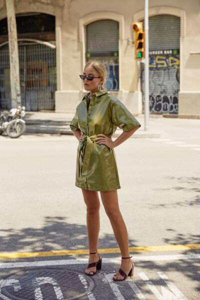 Nasty Gal x Josefine H.J : la robe vinyl