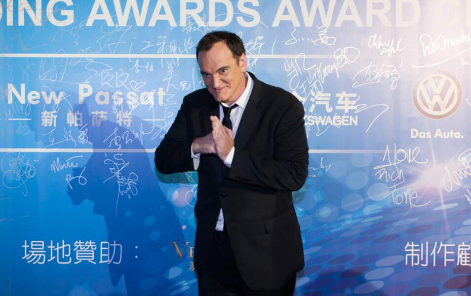 Quentin Tarantino en mode winner