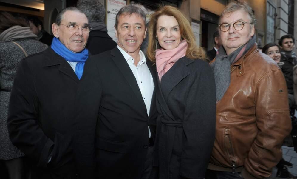 Michel Corbière, le mari de Cyrielle Clair, avec Louis-Michel Colla, son épouse et Dominique Besnehard