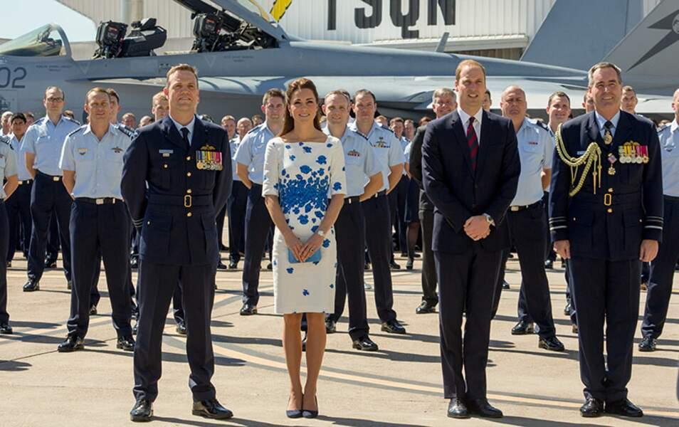 Le duc et la duchesse de Cambridge à la base de la Royal Australian Air Force d'Amberley