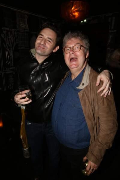 Nicolas Maury et Dominique Besnehard à la fête de fin de tournage de la saison 3 de Dix pour cent, à Paris