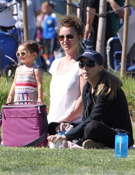 Britney Spears avec une amie et une petite fille