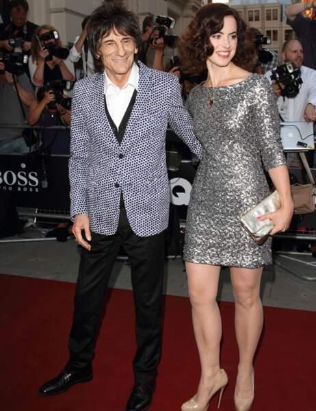 Ron Wood et sa femme Sally Humphreys