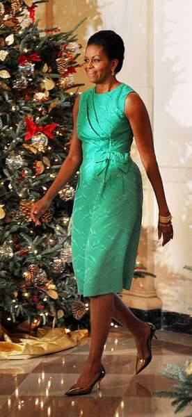 Michelle Obama a compris que le vert lui allait bien