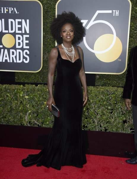 Viola Davis lors de la 75e cérémonie des Golden Globes, le 7 janvier 2018