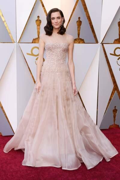 Allison Williams à la 90e cérémonie des Oscars, à Los Angeles le 4 mars 2018