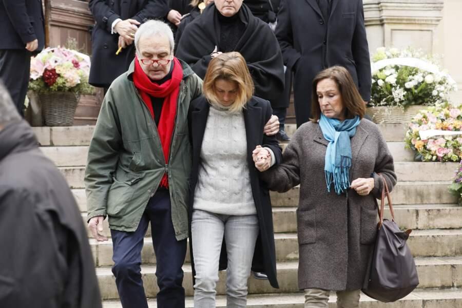 Obsèques de Michel Legrand à Paris : Benjamin Legrand et Eugénie Angot, le frère et la fille de Michel Legrand