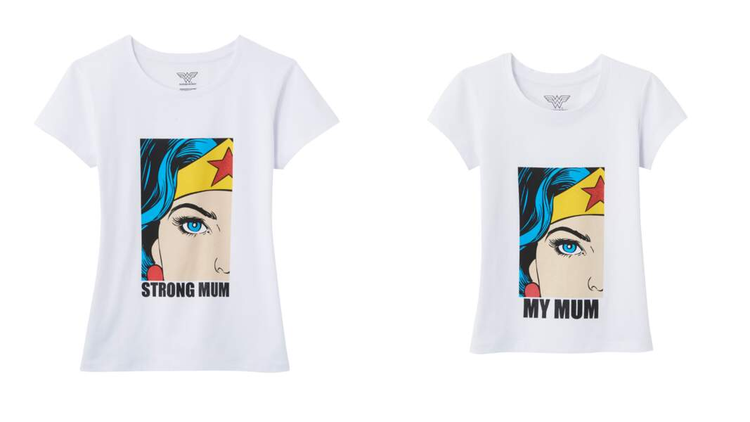Tee-shirts femme (12,99 €) et enfant (8,99 €), Camaieu