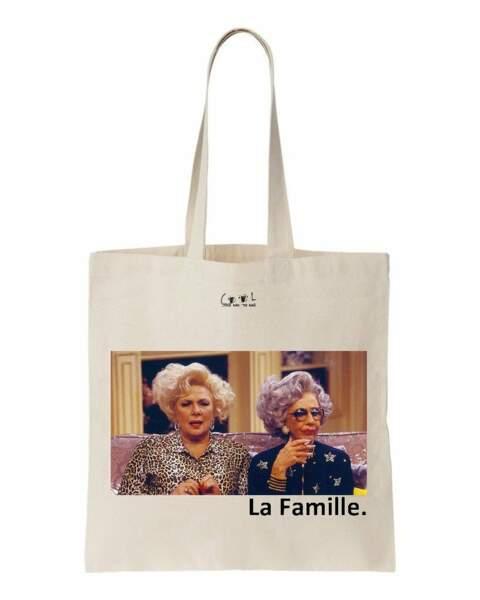 Cadeaux de fête des mères : tote bag en coton La Famille, Cool and the bag, 15€