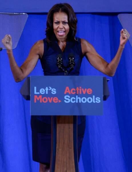 C'est Michelle Obama qui promeut son programme Let's move