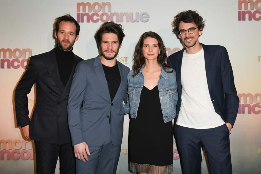 Benjamin Lavernhe, François Civil, Joséphine Japy et Hugo Gélin à l'avant-première de Mon Inconnue