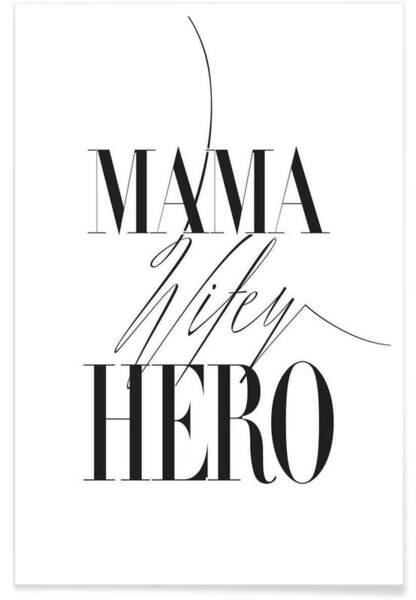 Affiche Mama Wifey Hero, Junique, 12,99 euros