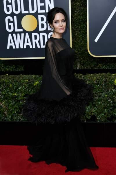 Angelina Jolie lors de la 75e cérémonie des Golden Globes, le 7 janvier 2018