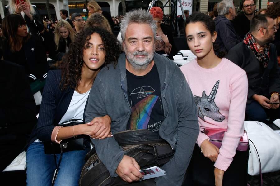 Le Défilé L'Oréal Paris show - Luc Besson, Noémie Lenoir et Iman Perez