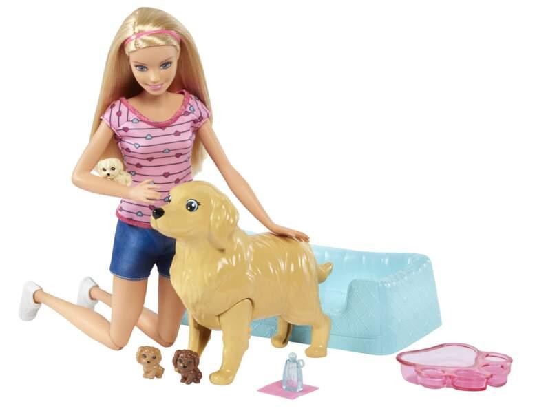 Barbie naissance des chiots. Dès 3 ans, 32,99 € en GMS et dans les magasins spécialisés