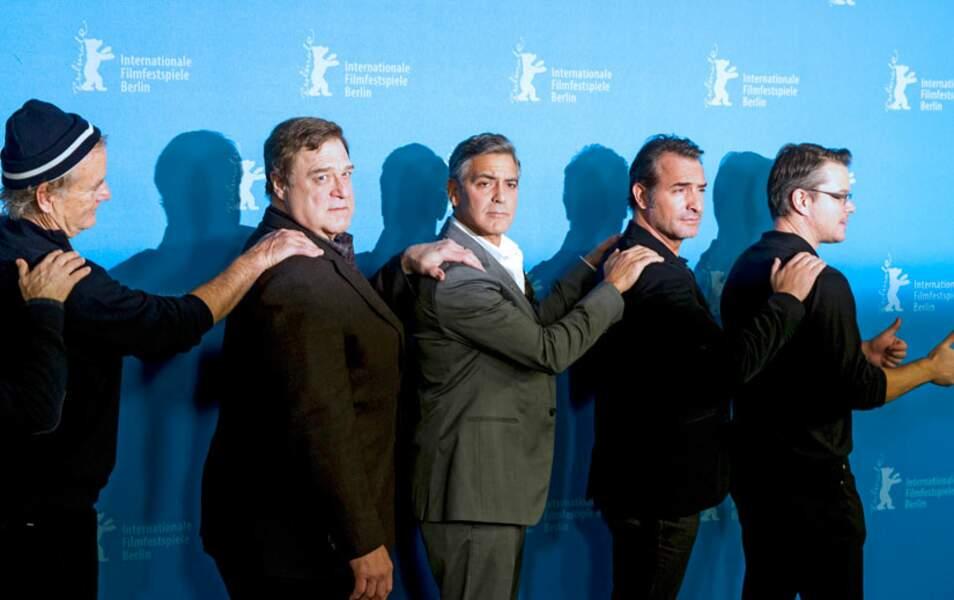 Matt Damon, Jean Dujardin, George Clooney, John Goodman et Bill Murray