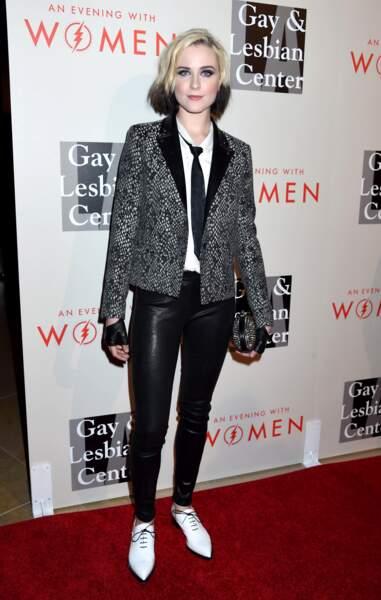 Evan Rachel Wood après un passage chez Lucif'HAIR coiffure ( et Lucifer Vêtements aussi)