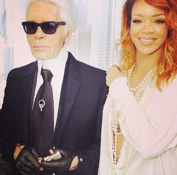 Rihanna et Karl Lagerfeld