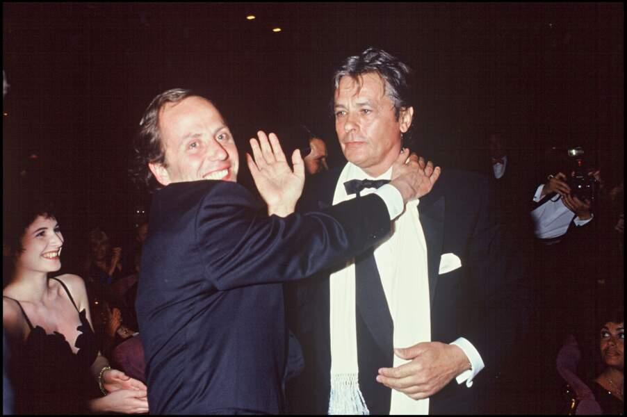 Avec Fabrice Luchini en 1992