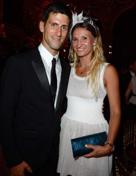 Novak Djokovic et Tatiana Golovin