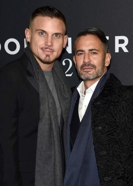 Le designer Marc Jacobs et son boyfriend Charly DeFrancesco