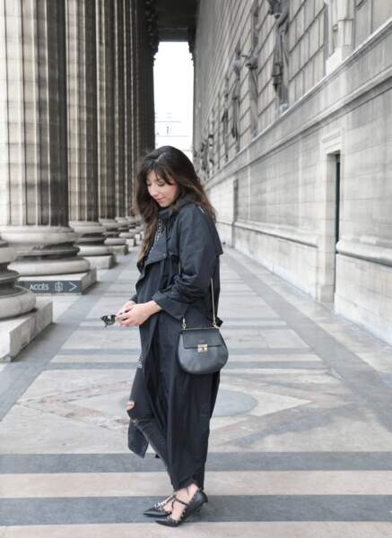 Marieluvpink et son trench pliable Isabel Marant