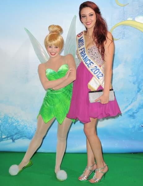 La Fée Clochette et Delphine Wespiser (Miss France 2012)