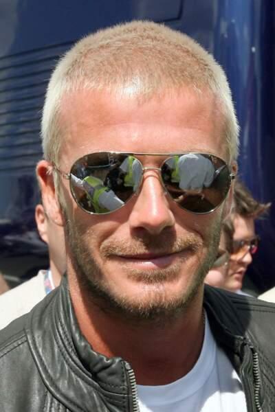 """David Beckham en 2007: il essaye la """"quasi boule à zéro"""""""
