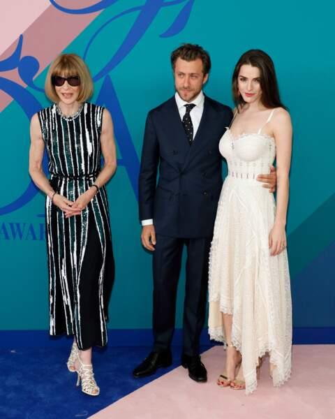 CFDA Fashion Awards 2017 - Anna Wintour en famille avec sa fille Bee Shaffer et Francesco Carrozini