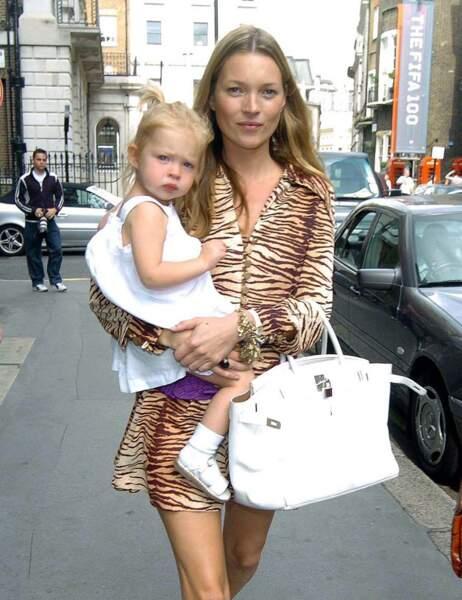 Kate Moss et sa fille Lila Grace petite...
