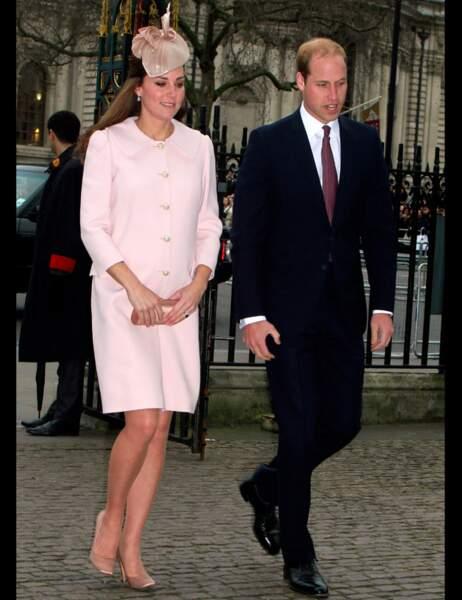 Kate et William arrivant à l'abbaye de Westminster